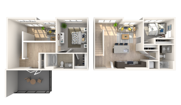 Featuring our Spacious Townhomes